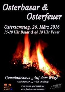 Osterbasar und Osterfeuer